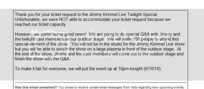 Jimmy Kimmel Mail